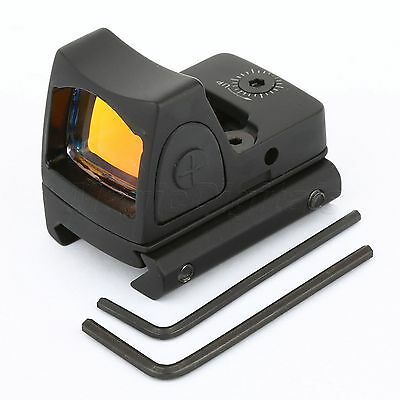 Hunting Tactical Red Dot 3.25 MOA Rifle Scope Sight 20mm Rail Picatinny Mount