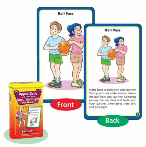 Upper Body & Core Strength Flash Cards Super Duper Fun Deck Strength Exercise