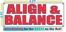 ALIGN BALANCE Banner Sign NEW Larger Size Best Price for The $$$ TIRE CAR TRUCK