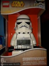 LARGE lego Stormtrooper ALARM CLOCK MINIFIGURE 8inch snooze DC SUPER HEROES