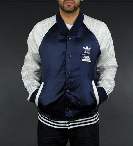 Folleto menos sin embargo  Original Adidas Mens Star Wars Jacket Satin Jacket Dark Indigo Track  Lightweight | eBay