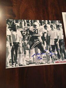 Mike Rozier University of Nebraska Signed 8x10 Football Photo Heisman Trophy