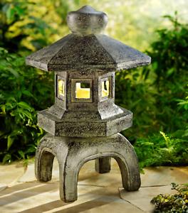 Led Solar Pagode Asia Japan Teich Deko Garten Beleuchtung