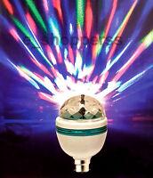 Disco MultiColour Rotating LED Light Bulb/Projector Light/Christmas/NewYearParty