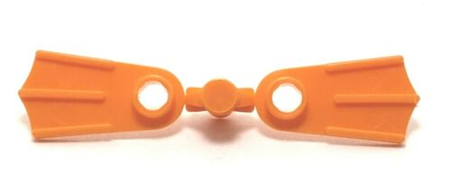 NEW Genuine LEGO Flippers Orange Minifigure Footgear #2599c01