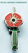 Poppy Lapel Pin Badge Royal Marine Commando Dagger Knife British Army.