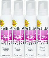 Condition 3-in-1 Hair Mousse, Xtra Hold- 6 Oz (pack Of 4)