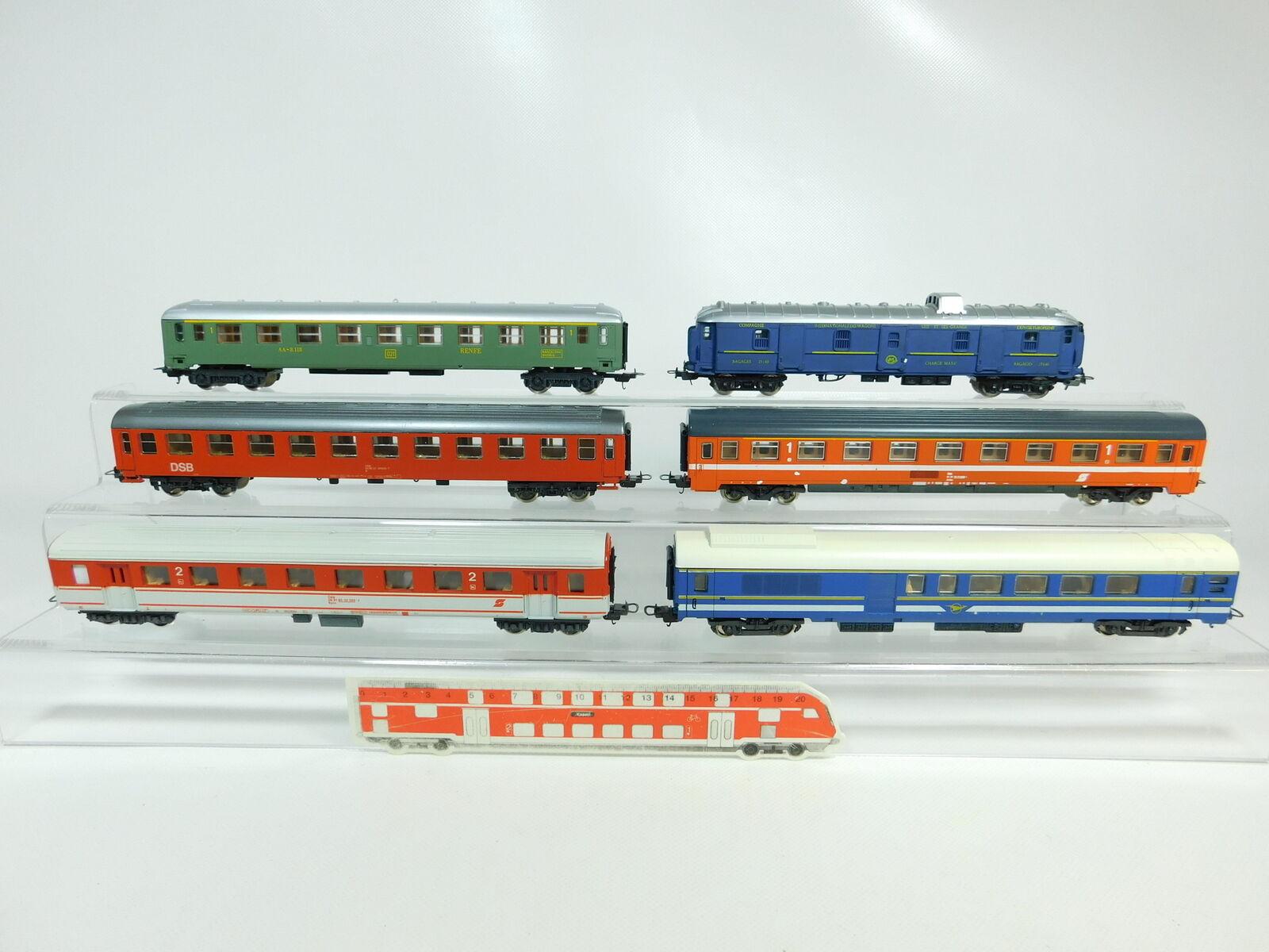BP759-2x Lima H0 DC Wagen  CIWL 25140 + ÖBB + Renfe + DSB etc, 2. Wahl