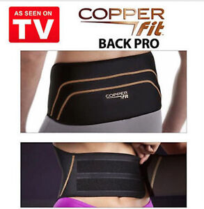 ba67a44660 Copper Fit Back Pro Back Brace Compression Lower Lumbar Support Belt ...