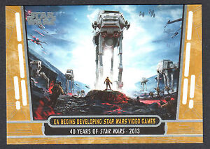 STAR-WARS-40th-ANNIVERSARY-2017-Topps-PARALLEL-GOLD-CARD-97-28-40