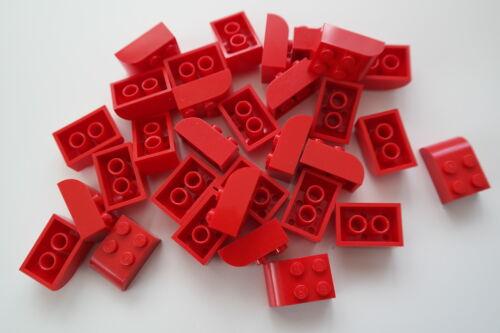 30 Lego Basic Steine abgerundet 2x3 6215 rot Bausteine Grundsteine
