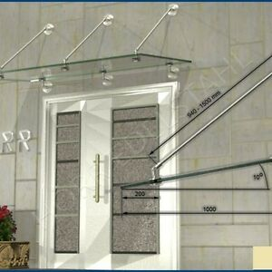 vordach edelstahl set punkthalter 1 satz mit zugstange ohne glas ebay. Black Bedroom Furniture Sets. Home Design Ideas