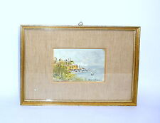 Gemälde im Rahmen Maritim Öl Italien um 1940