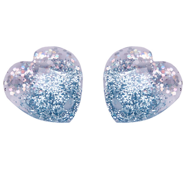 100x 24650 Wholesale Heart Shiny Sew-on Flatback Resin Beads Applique Free P&P