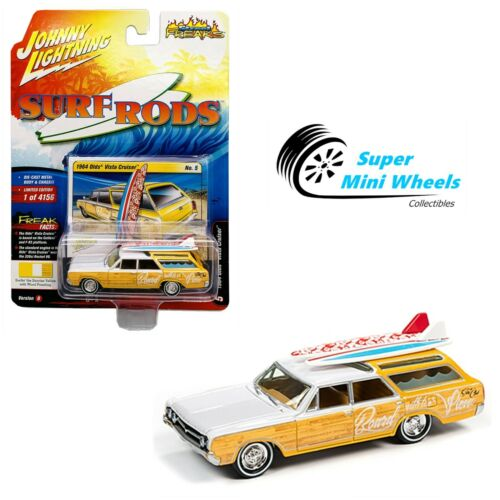 Johnny Lightning 1:64 Surf Rods 1964 Oldsmobile Vista Cruiser Wagon Yellow