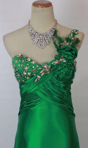 Prom split 1 Schouder Bowls hoge Formele 2 400 Tony Lange Maat Green jurk jurk met q6XzYx