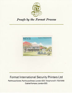 Nevis 4360 - 1985 TOURISM $1.20 IMPERF on FORMAT INTERNATIONAL PROOF CARD