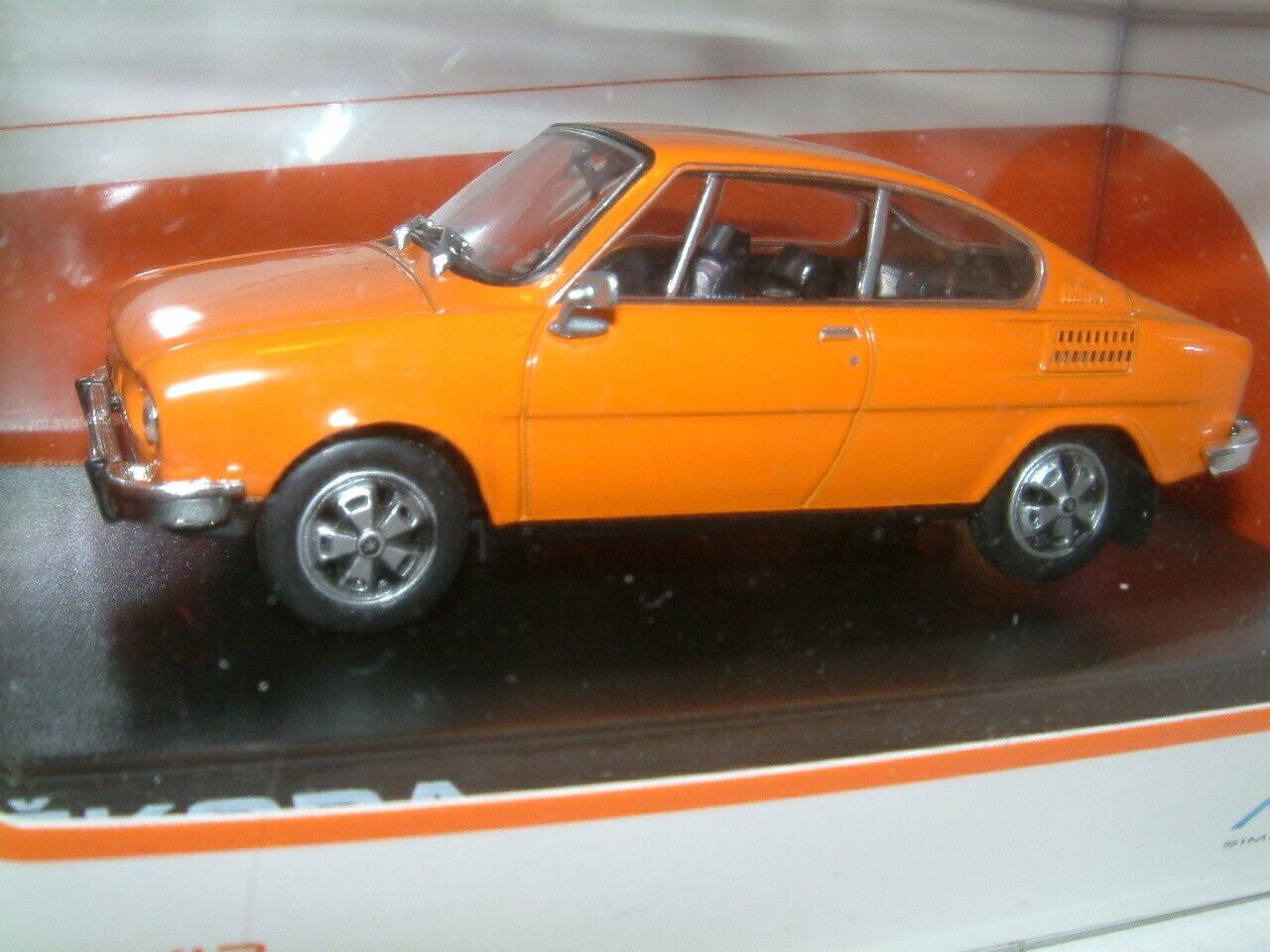 1 1 1 43 SKODA 110R COUPE 1980 IN orange, ABREX 38330a