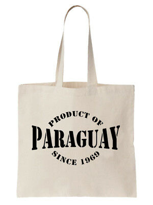 Personalised Paraguay Year Birthday Tote Bag Paraguayan Country Gift Shopper