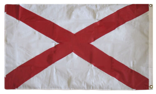 3x5 Embroidered Sewn State of Alabama 300D  Nylon Flag 3/'x5/' Banner With 2 Clips