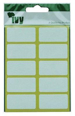 Blanc Oblong Étiquettes Adhésif 19mm x 38mm Autocollants par Ivy