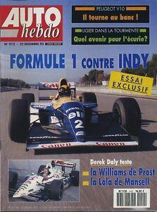 AUTO-HEBDO-n-912-du-22-Decembre-1993-DEREK-DALY-ESSAYE-WILLIAMS-FW15C-vs-LOLA-93