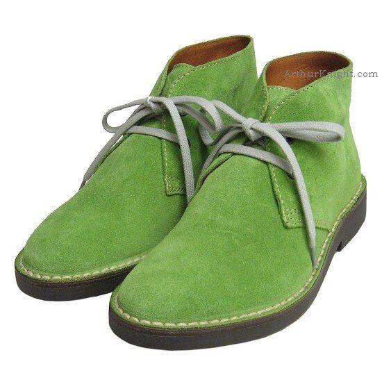 Venta * de liquidación de temporada * Venta nuevo * Damas Verde Lima De Gamuza Desert Boot 4 Para Mujer Cuero Italiano Euro 37 26660e