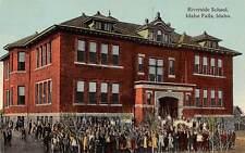 IDAHO FALLS, BONNEVILLE COUNTY, IDAHO, RIVERSIDE SCHOOL, STUDENTS, c. 1907-14