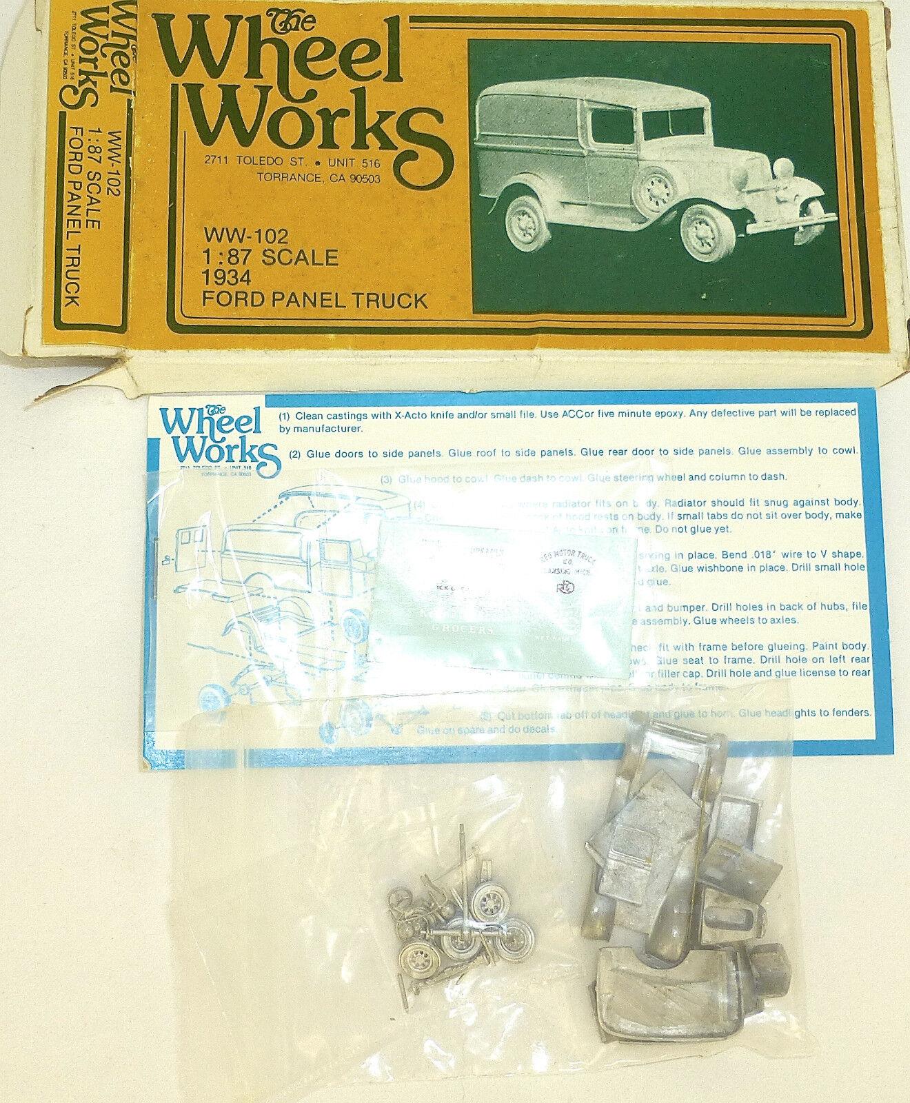 Ford Pannello Camion 1934 Kit di Costruzione Ricostruita The Wheel Works WW-102