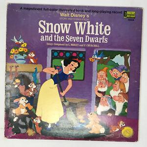 Walt-Disney-Snow-White-And-The-Seven-Dwarfs-LP-Vinyl-Record-Story-amp-Songs-1969
