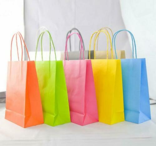 6x Accessory XSmall Paper Party Bags Luxury Bags Kraft Gift Bag Twisted Handles