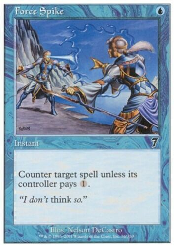 MTG 4x FORCE SPIKE 7th Edition *Billiger COUNTER*