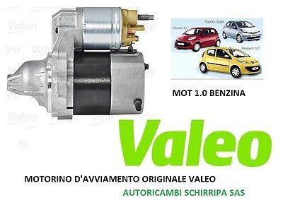 MOTORINO AVVIAMENTO STARTER CITROEN C1 1.0 cc BENZINA 50 KW VALEO ORIGINALE