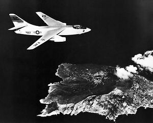 U.S. Navy Douglas A3D-2 Skywarrior from USS Saratoga Fly over Isle of Capri 1958