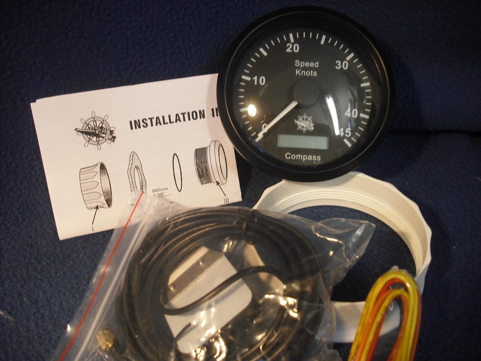 GUARDIAN Geschwindikeitsmesser GPS Kompass mit GPS Geschwindikeitsmesser schwarz 27.780.02 26f8bb