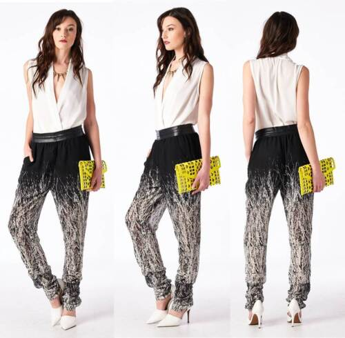 Holy Branches White New picasso Pantaloni Black stampa Britches L con Tov Sz Sheer 1w5T4q