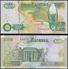 ZAMBIA 20 KWACHA SIGN 10 1992 FDS/UNC FIOR DI STAMPA