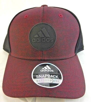 adidas Mens Thrill Snapback Jersey Print Collegiate Burgundy  *New*