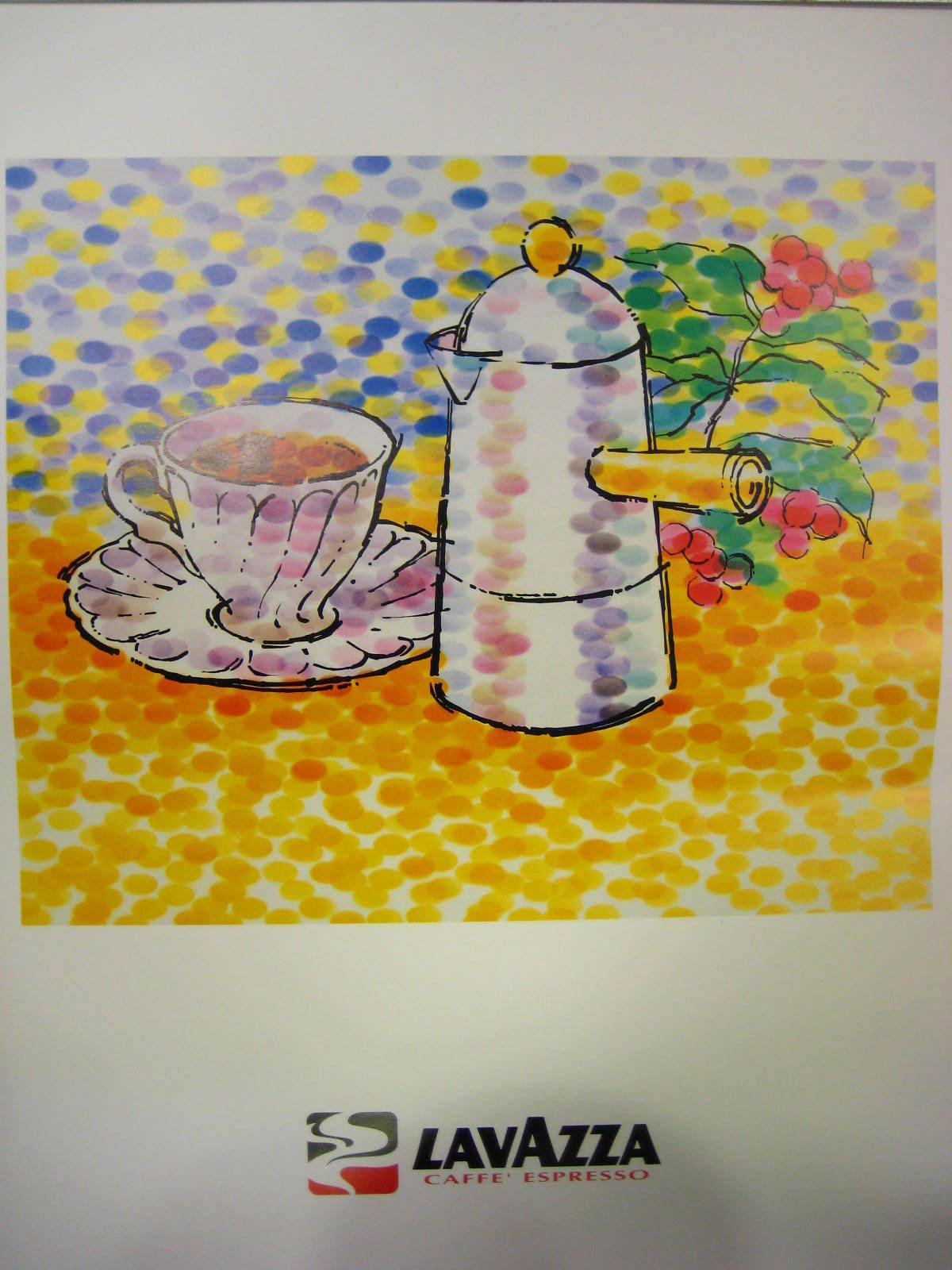 FAMILIES RITRATTI INTORNO AL CAFFÈ Lavazza 2000 Calendar Poster