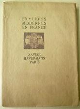 Ex-Libris, Ex-Libris modernes en France, Kunst, art francais, Buchwesen,