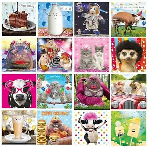 GOGGLIES 3D EYES  MALE OR FEMALE RELATIONS BIRTHDAY CARD 1ST P/&P VARIOUS