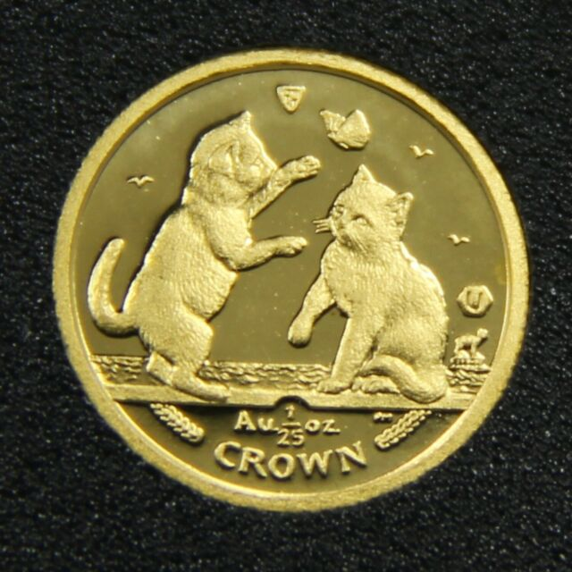 2004 Isle Of Man Tonkinese Kittens 9999 1 25 Oz Gold Crown