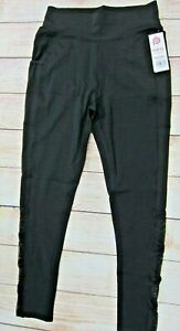 POP-FIT-Women-039-s-Athletic-Workout-Leggings-with-Pockets-2218-20-Black-NWT
