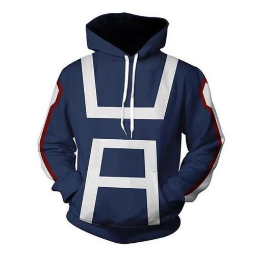 Mon Boku no hero Academia Sweat à capuche homme Femmes Gym Sweat-shirt Pull-over à capuche S-5XL