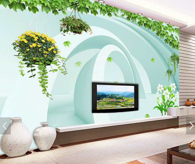 3D Leaves Grün 645 Wallpaper Murals Wall Print Wallpaper Mural AJ WALL AU Kyra