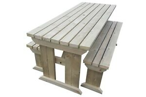 COMPACT-Picnic-Table-Bench-4FT-to-8FT-Hand-Made-Outdoor-Furniture