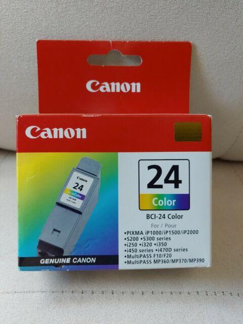 Genuine Canon BCI-24 Color Print Ink Cartridge PIXMA Brand New Sealed