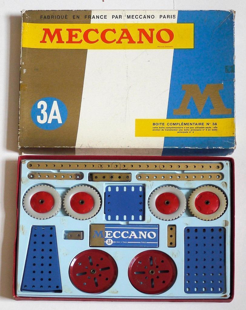 FRENCH MECCANO (3A) ACCESSORY SET (BOXED)