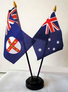 AUSTRALIA-NEW-SOUTH-WALES-TABLE-FLAG-SET-Australian-Sydney-Wagga-Wagga-Newcastle