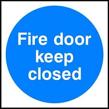 Fire Exit Keep Clear Warning /& Safety Plastic Sign or Sticker MISC13